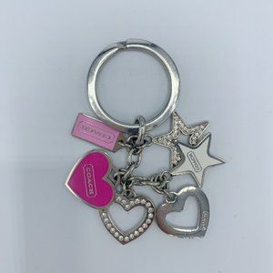 Coach Multi Heart and Star Key Chain